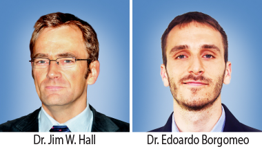 Water Management and Protection Prize: The team of Dr. Jim W. Hall and Dr. Edoardo Borgomeo (Environmental Change Institute, University of Oxford).