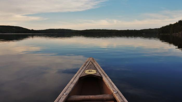View from a kayak on Lake 239 at IISD Experimental Lakes Area. Photo: IISD Experimental Lakes Area