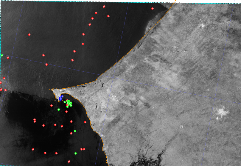 Graphic showing fishing surveillance in West Africa.